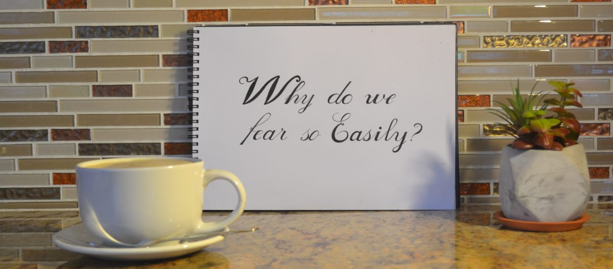 Why do we fear so Easily?